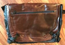 Briefcase Soft Side Leather Messenger Bag Brown Black Tote Mens Womens Wilson's