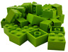Lego 50 Pièce Pierres En Citron Vert (Lime ) 2x2 (3003) Neuf City Basics Module