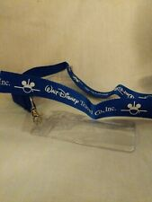 Walt Disney Travel Co Blue Detachable Neck Lanyard ID Badge Holder Disneyland