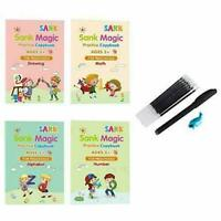 Magic Practice Copybook 4Pcs with Pen & Pen Grip