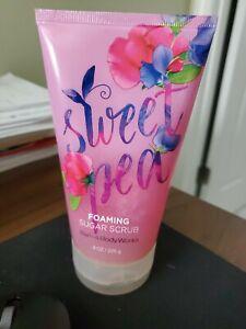 Bath & Body Works SWEET PEA Foaming Sugar Scrub Discontinued Exfoliating RARE