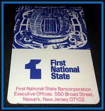 1977 NEW YORK GIANTS FIRST NATIONAL STATE BANK FOOTBALL POCKET SCHEDULE