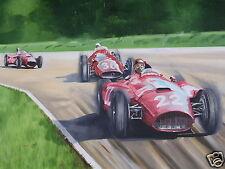 LANCIA Ferrari D50 pintura al óleo originales