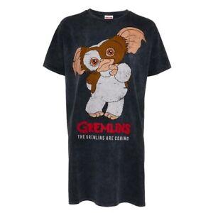 New Primark Gremlins Ladies XMAS Nightdress Nightwear Long T-Shirt Loungewear