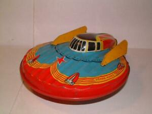 VINTAGE TIN Space Toy Flying Saucer W 902 Terre-Mars made by SFA in France