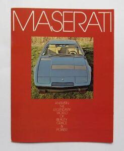 c. 1975 Maserati Khamsin Gran Turismo Brochure Vintage Original