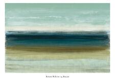 HORIZON ART PRINT BY HEATHER MCALPINE abstract blue green ocean coastal poster