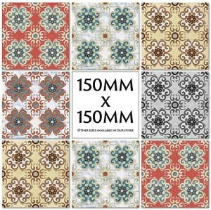 Traditional Vintage Tile Stickers Kitchen Transfers 150mm Or 100mm - M44