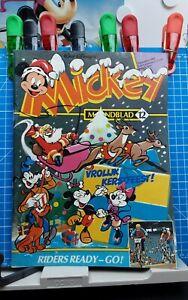 Disney Micky,  Mickey Maandblad Großbrand Nr. 12   1.Auflage  12.1982 Disneyana