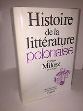 Histoire de la littérature polonaise par Czeslaw Milosz