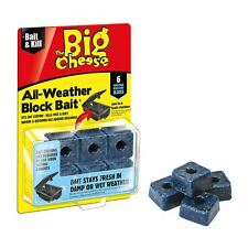The Big Cheese All Weather Bait Block II Rat Mice Rodent Infestation Poison NEW