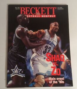 Beckett Basketball Card Monthly April 1994 #45 Shaq & Mourning Cover
