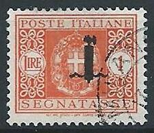 1944 RSI USATO SEGNATASSE FASCETTO 1 LIRA - W189-2