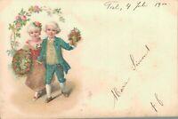 Romantic Couple Vintage postcard 1900 02.81