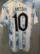 More details for lionel messi signed argentina 2022 world cup shirt psg barcelona player version