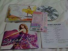TAYLOR SWIFT / speak now  /JAPAN LTD CD OBI