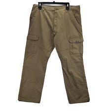 Wrangler Ranger Cargo Pants 42 X 30 Workwear Khaki Beige Stretch Pockets