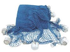 Fischernetz mit Schwimmern 250 cm Blau Maritime Dekoration - sc-5907
