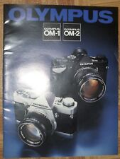 Vintage Original Olympus OM-1 OM-2 Brochure 35mm SLR Camera Japan Factory RARE