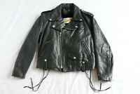 Schott Perfecto Leather Jacket Vintage Womens Riders Motorcycle 12 USA 80s 90s