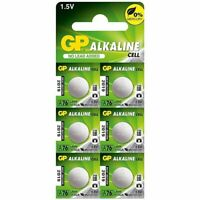 6 x GP LR44 1.5V Batteries A76  LR 44 AG13 357 L1154