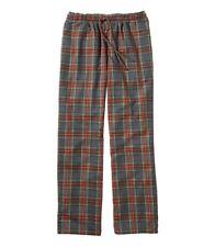 LL Bean Men's Sz Large Gray Stewart Scotch Plaid Flannel Sleep Pants