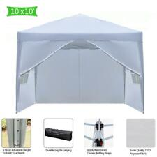 10x10 Portable Ez Pop Up Canopy Gazebo Wedding Party Tent With Carry Bag White