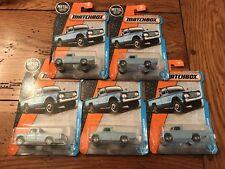 2017 Matchbox '62 NISSAN JUNIOR Truck Lot of 5 FIVE Trucks Blue
