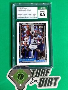 1992-93 Topps #362 SHAQUILLE O'NEAL CSG 8.5 NM/Mint+