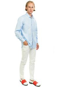 RRP €350 LANVIN Shirt Size 43 / 17 / XL Long Sleeve Regular Collar Made in Italy