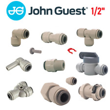 "John Guest 1/2"" Push Fit Fittings Drinks Dispense And Pure Water, Valve, Tube"