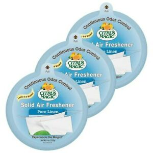 LOT OF 6 - CITRUS MAGIC PURE LINEN SOLD AIR FRESHENER 8oz PER PACK FREE SHIPPING