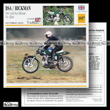 #007.08 BSA RICKMAN METISSE 500 GOLD STAR VIC ALLAN '57 Fiche Moto Motorcycle