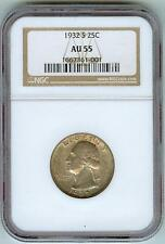 Rare, Key Date 1932-S Washington Quarter Doubled Die Reverse NGC 55