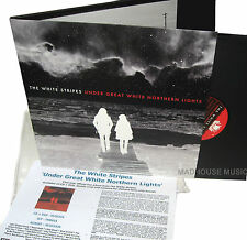 WHITE STRIPES LP x 2 Under Great White Northern  Lights + PROMO SHEET VINYL The