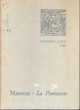1962: ALESSANDRO MANZONI - LA PENTECOSTE, STRENNA UTET
