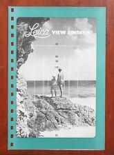 LEICA VIEW FINDERS SALES BROCHURE/164907