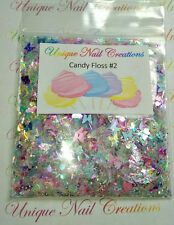Limited Edition Glitter Mix~CANDY FLOSS #2* Comes W Alloy~ Acrylic Nail~Nail Art