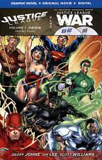 NEW Justice League Vol 1 Origin hard cover comic book + War DVD/Bluray graphic