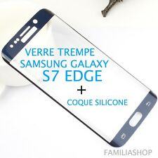 Tempered Glass Film Blue Integral Curved Samsung Galaxy S7 Edge+ Case