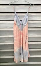 GYPSY 05 Sleeveless Tie Dye Silk Pink Blue Dress