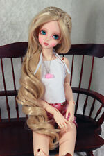 "1/3 8-9"" BJD DOLL WIG SD BLOND BLOND LONG CURLY W/BANGS DOLLFIE JR-87 USA NEW"