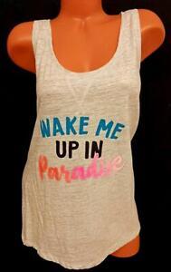 Secret treasures gray wake me up in paradise sleeveless sleepwear top 3X