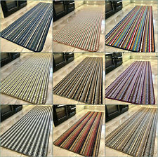 New Machine Washable Non Slip Mat Modern Colours Striped Kitchen Utility Runner