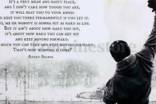 Rocky Balboa - Motivational Quotes Art Silk Poster 24x36 inches NEW