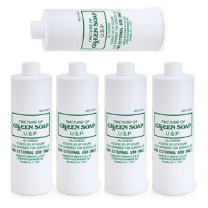 5 Bottles 16oz Pure Cosco Tincture Green Soap Medical Supply Tattoo Made in USA