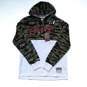 MITCHELL & NESS Chicago Bulls Tiger Camo Hoodie Size L