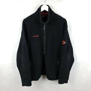 MAMMUT INNOMINATA Mens Black Fleece Jacket Polartec Thermal XL 1010 08190