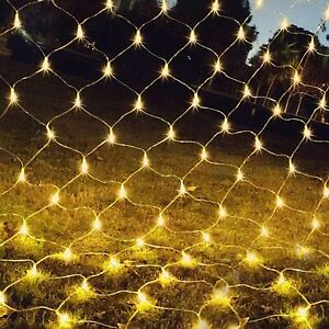 LED String Fairy Net Lights Curtain Mesh for Christmas Party Garden Decor 3x2m