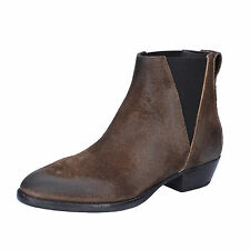women's shoes MOMA 8,5 (EU 38,5) ankle boots black brown suede AC364-G